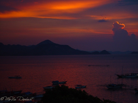 Sunset over Komodo NP