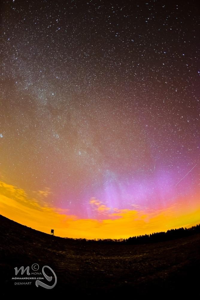 Aurora Borealis in Northern Luxembourg (2/3)